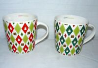 STARBUCKS BARISTA 2 16 CHRISTMAS HOLIDAY ARGYLE MUGS SNOWMEN & PRESENTS CUPS