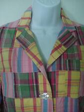 Cape Madras Preppy Plaid Pastel Blazer Jacket Size S Pastels Multi-Color