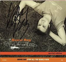 HOWIE DAY - Signed CD Cover - Stop All the World Now - SINGER