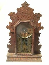 Antique WM L GILBERT Mantel Gingerbread Clock WORKS!!!