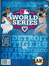 2012 World Series Program: Detroit Tigers vs San Francisco Giants