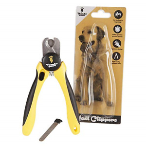 Professional-Grade Dog Nail Clippers by Thunderpaws with Protective Guard, Lock