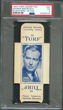 1947 Turf Cigarettes Card w/ Tab #30 George Macready Actor Paths of Glory Psa 5