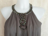 MAGGY LONDON 100% SILK WOMEN'S GREY COLOR DRESS SIZE ~~10~~