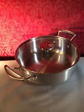 "Mauviel 1830 Stainless stew pan 9.5"" With M Glass Lid Stock Pot"
