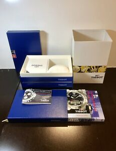 TISSOT Blue Empty Watch Display Box, Outer Sleeve & Booklet Only [Complete Set]