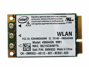 DELL Laptop Intel Pro Wireless WiFi 4965AGN Network adapter PCI-E Card (2) L