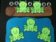 NOW W/ BUGS Felt / Flannel Board Story 5 GREEN SPECKLED FROGS -preschool circle