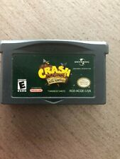 Crash Bandicoot: The Huge Adventure (Nintendo Game Boy Advance, 2002) Cartridge