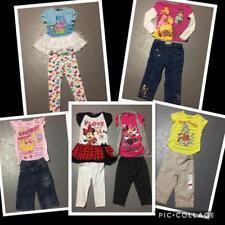 GIRLS CHARACTER LOT CLOTHING PRINCESS MINNIE CUPCAKE DRESS LEGGINGS CAPRI SZ 5 6
