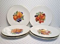Set of 6 Vintage BAREUTHER WALDSASSEN Bavaria Germany China Fruit Dessert Plates