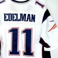 NEW ENGLAND PATRIOTS Size 40 Edelman #11, NFL White Navy Jersey, NIKE Medium