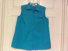 Duo Maternity ladies shirt size medium light blue stretch sleeveless 110