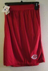 NWT Majestic Cincinnati Red Mens B&T Mesh Shorts 6XL Red MSRP$30