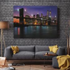 LED Lighted Brooklyn Bridge Light Up Canvas Painting Wall Art Decor 40*30cm