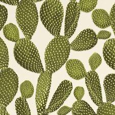 CACTUS WALLPAPER GREEN / CREAM - RASCH 441000