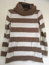 Calvin Klein Performance Ladies Leisure Wear, Jumper/Top Brown/White Size XS