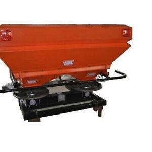 Fertiliser Spreader Twin Spindle Granular Fertilizer 1000L Capacity Tractor 3PL