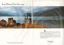 Publicité 1992  (double page)  LOUIS VUITTON bagage cuir sac à main valise