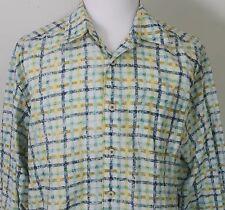 Men's XL Tommy Bahama Linen Plaid Long Sleeve Shirt