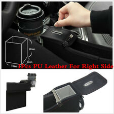 PU Car Right Side Seat Storage Box Catcher Gap Filler Coin Collector Cup Holder