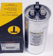 TitanPro Trcd403 Hvac Round Dual Motor Run Capacitor. 40/3 Mfd/Uf 370 Volts