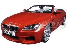 BMW M6 F12M CONVERTIBLE SAKHIR ORANGE 1/18 DIECAST MODEL CAR BY PARAGON 97063