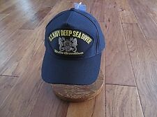 U.S Navy Deep Sea Diver Hat We Dive The World Over Official Ball Cap U.S.A. Made
