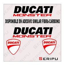 X4 DUCATI MONSTER  STICKER  VINILO RECORTE PEGATINA MOTO GP. ENDURO