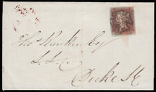 SG7 1841 1d. Red-brown black, plate 8, SD, state 2 late repair, used on cover...