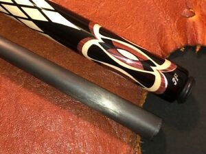 "J. Flowers pool cue with Jacoby ""BLACK"" Carbon Fiber Shaft."