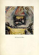 Franziskus -- Die Trauer der hl. Klara - Coloriert - aus 1931