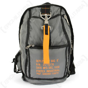 Grey Military Army USAF American Paratrooper Backpack Rucksack - Small