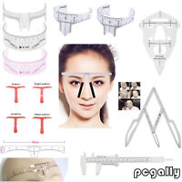 Multi-Eyebrow Ruler Makeup Measure Head for Microblading Permanent Tool Reusable