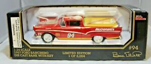 Racing Champions 1:24 1957  Diecast Car BANK #94 Bill Elliott McDonalds Ford