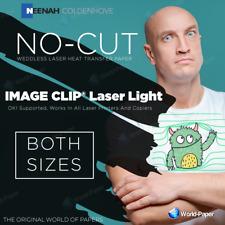 Image Clip Laser Light (No-Cut) SELF-WEEDING TRANSFER PAPER -for light garments