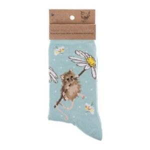 Super Soft Oops A Daisy Mouse Bamboo Socks - Wrendale Antibacterial One Size
