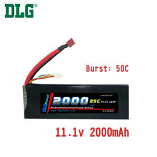 Genuine DLG RC Battery 11.1V 3S 25C 2000mAh Burst 50C Li-Po LiPo Dean's T plug