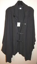 SAKS FIFTH AVENUE THREADS PONCHO SWEATER WOMEN'S WOOL JACKET sz PS NEW AUTHENTIC