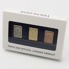 TOKYO 2020 Olympic Pin Badge Sets  3PC Official license product NEW