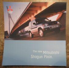 MITSUBISHI SHOGUN PININ orig 1999 UK Mkt Smaller Format Sales Brochure - Pajero