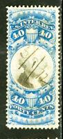 US Stamps # R114 40c Revenue VF USED Scott Value $150.00