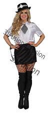 SEXY LADIES POLICE WOMAN COP OFFICER UNIFORM FANCY DRESS COSTUME HEN NIGHT (BW)