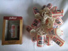 Vtge Budweiser Patio Lights (20) used & Bonus Bud Ornament (new) Lights WORK!