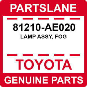81210-AE020 Toyota OEM Genuine LAMP ASSY, FOG