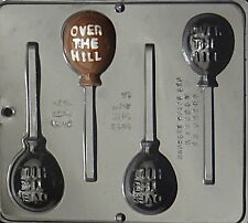 """Over The Hill"" Balloon Lollipop Chocolate Candy Mold  3345 NEW"
