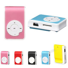 5 Farbe Plastic Mini Clip USB MP3 Player Support Micro SD TF Card Music Media