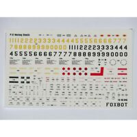 Foxbot 48-046 Decal Technical Inscriptions On P-51 Mustang For Scale Models 1/48