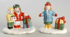 "*Dept 56 Snow Village 1986 Lot ""Shopping Girls"" + ""Kids Around The Tree"" - New*"