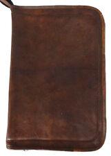 Genuine Leather Business Folder Mini Laptop Folder Tablet Case Document Holder 2